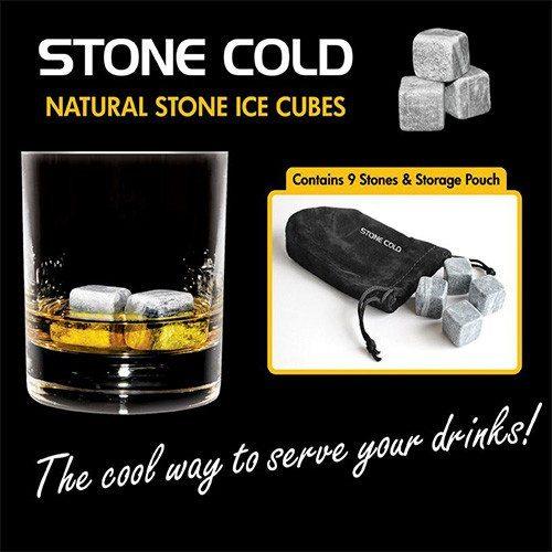 """Cubitos de piedra para enfriar tus bebidas  """"Stone Cold"""""""