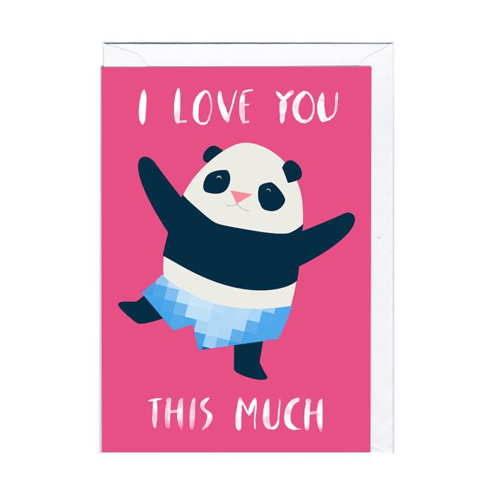 "Tarjeta cariñosa ""Amor de Panda"""