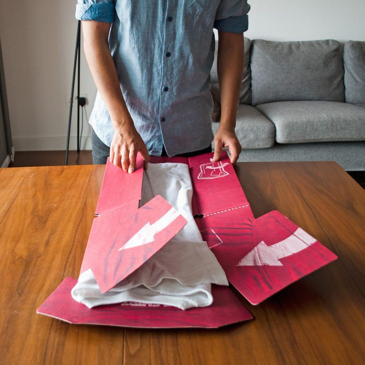 Plegador para camisetas - Pliega tus camisas como un pro