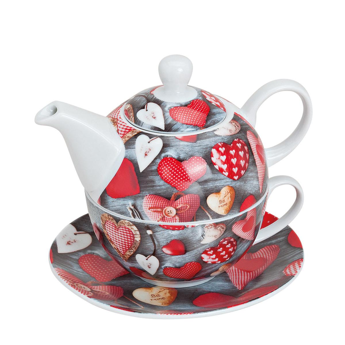 Set para Té todo en Uno – taza de té con corazones