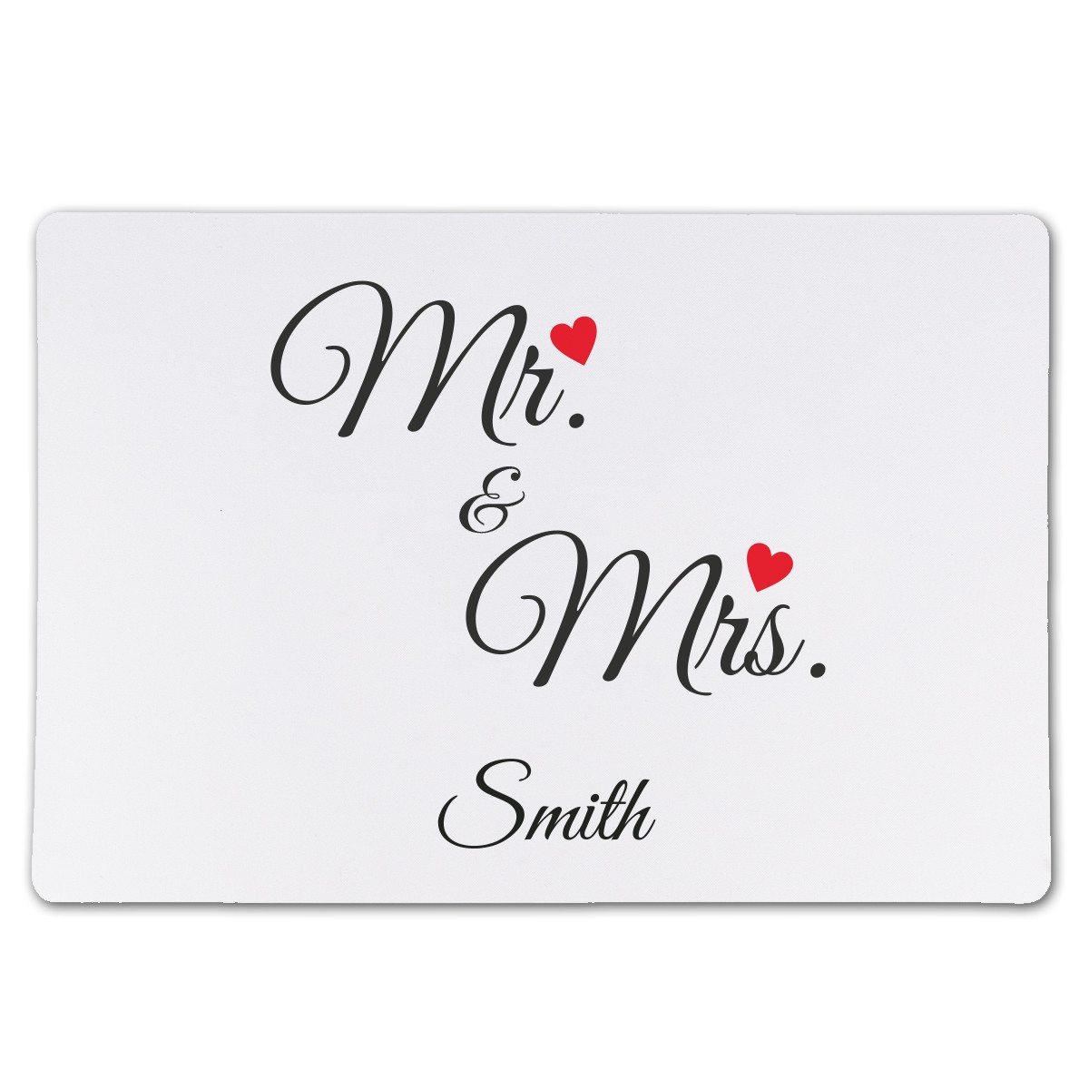 """Textile Tischunterlage """"Mr. & Mrs."""""""