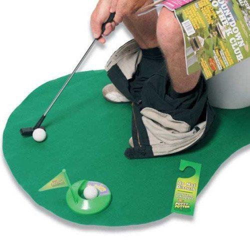 Jeu de golf pour les toilettes !