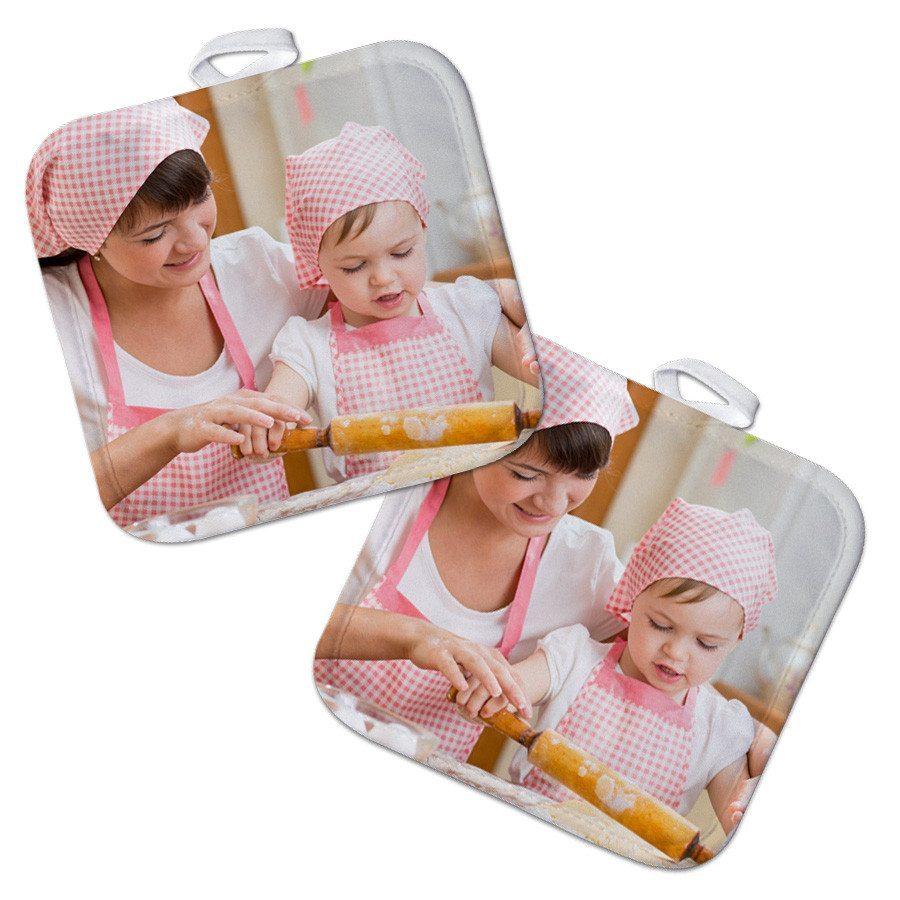 Manoplas de cocina – Set de 2 personalizables con foto