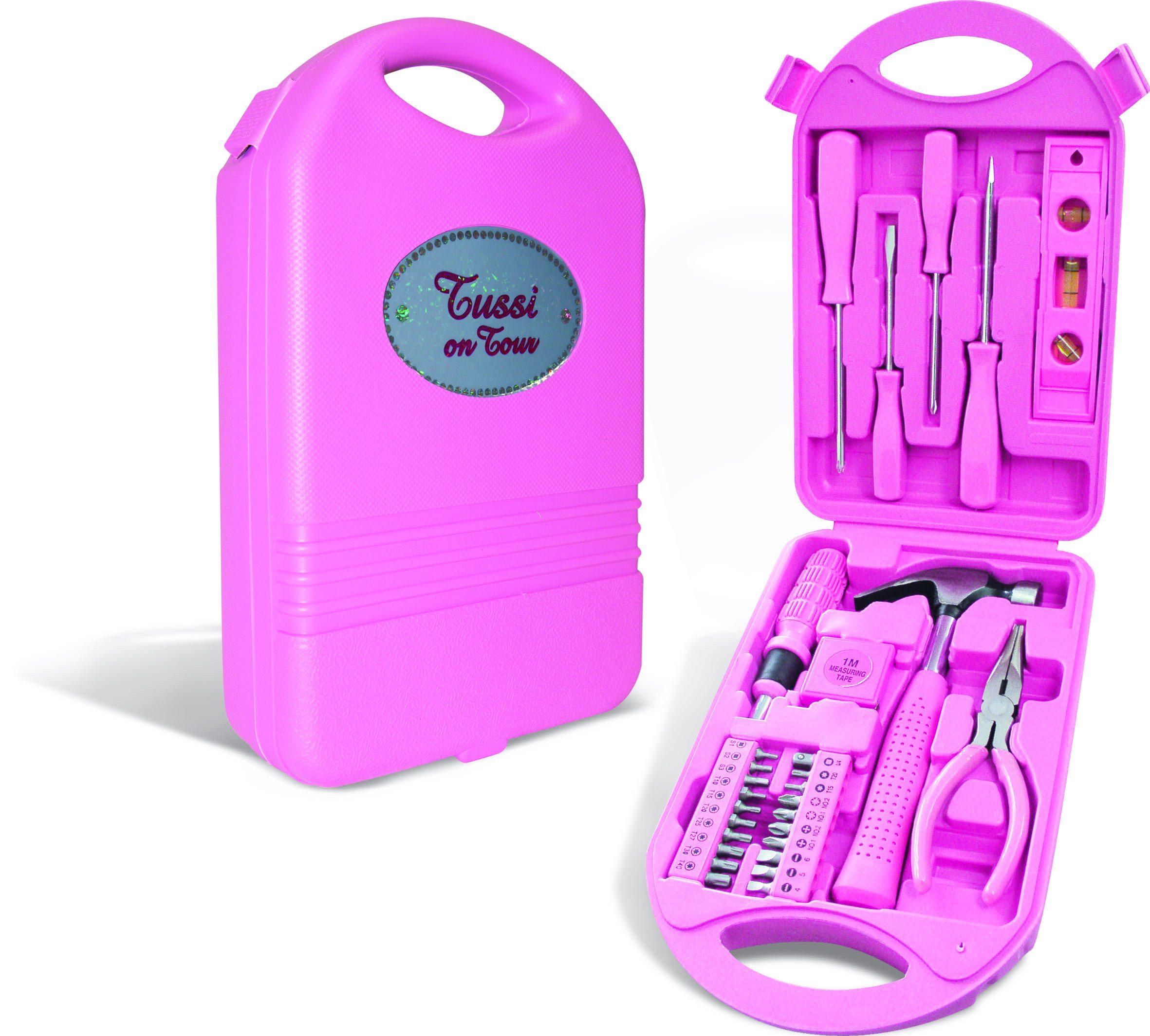 Caja de herramientas rosas