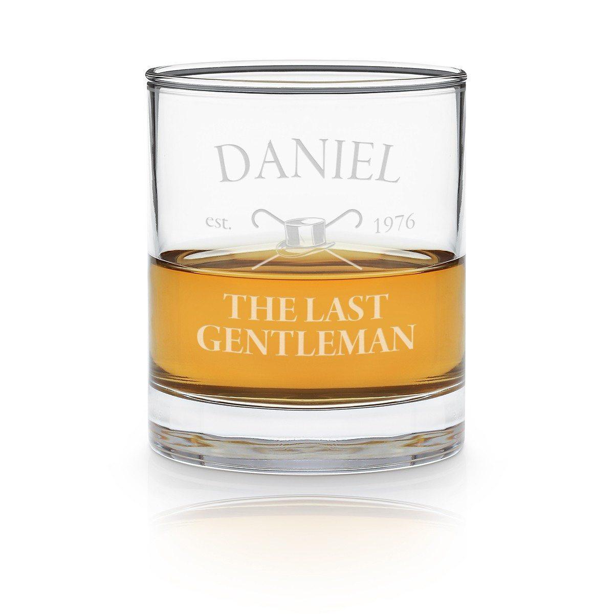 Vaso de whisky con grabado personalizado y muy original