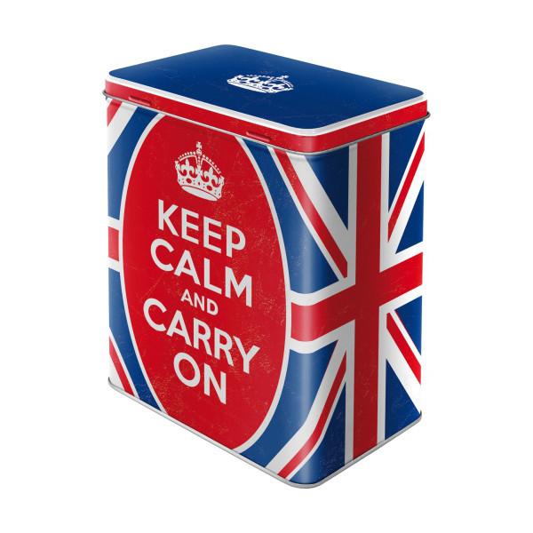 "Vorratsdose ""Keep calm and carry on"""