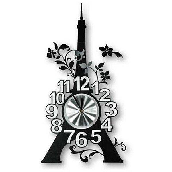 """Wanduhr """"Eiffelturm"""" - zum Aufkleben"""