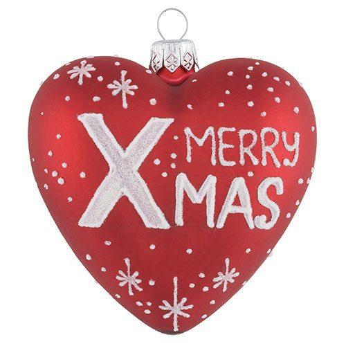 Weihnachtsbaumkugel mit Botschaft