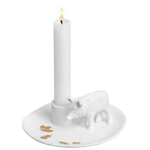 Candelabro de invierno - Detalle de porcelana