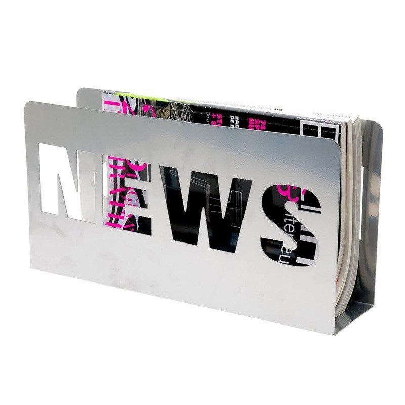 """Revistero de metal """"News"""" – Decorativo y muy práctico"""