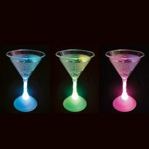 Copas de Cóctel LED - Copas llenas de color