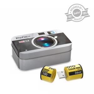 Caja Metálica con USB (8 GB) - Para guardar tus recuerdos