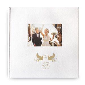 Álbum de cuero artificial con foto y grabado