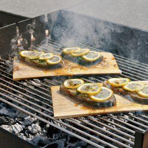 Tablas de cedro para cocinar en la barbacoa - set de 2