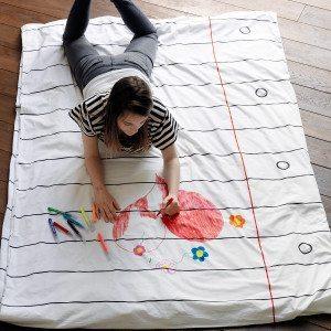 Bettwäsche zum Bemalen
