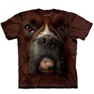Camisetas de animal big face - Bóxer