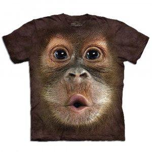 Camiseta Big Face 3D - Orangután bebé