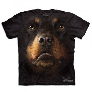 Camiseta Big Face 3D - Rottweiler