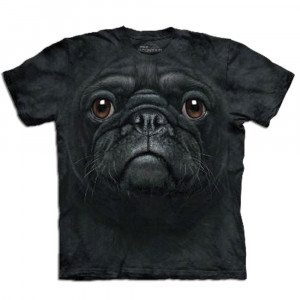 Big Face - Tier T-Shirts - Schwarzer Mops