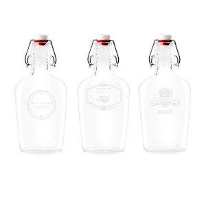 Botella de bolsillo personalizada 0.25l
