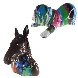 Escultura de animal colorida – una obra de arte única