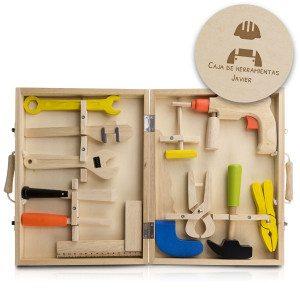 Caja de herramientas para niños con grabado personalizado