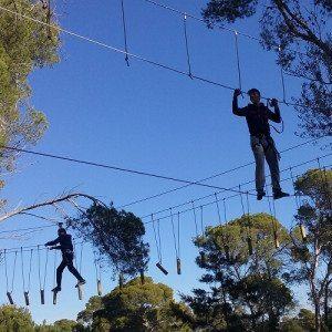 Circuito deportivo de aventura con tirolinas - Mallorca