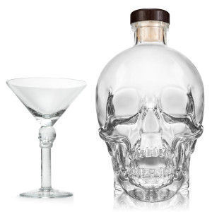 Crystal Head Vodka – Set de regalo con  copa de Martini