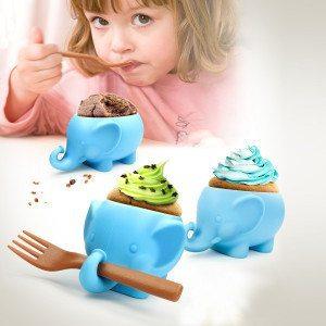 """Moldes para cupcakes """"Elefante"""" - ¡Perfecto para niños!"""