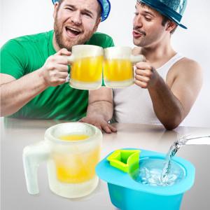Der Bierkrug aus Eis