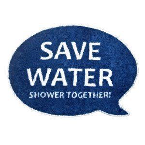 Alfombrilla de baño: Save Water, Shower Together!
