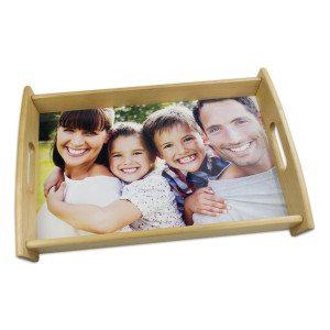 Bandeja de madera con foto personalizada