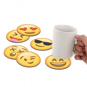 Set de posavasos de emoticonos