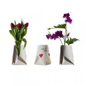 Faltbare Blumenvase, 4er Set