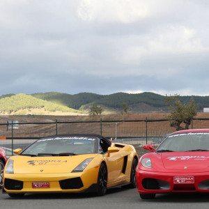 Ferrari F430 F1 y Lamborghini Gallardo - Barcelona