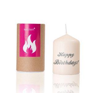 "Geburtstagskerze ""Happy Birthday"""
