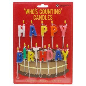 "Velas de colores ""Happy Birthday"""