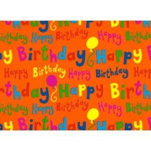 Geschenkpapier Happy Birthday