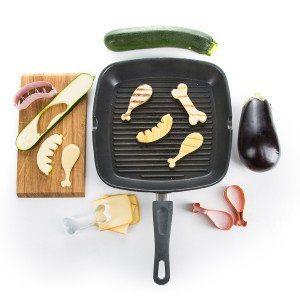 Getarntes Gemüse - lustige BBQ-Ausstecher