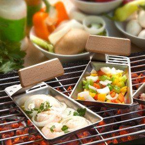 Set de sartenes para grill - El complemento para la barbacoa