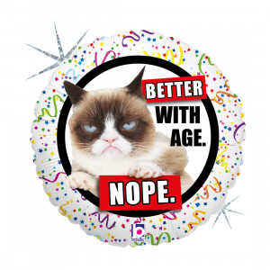 """GRUMPY CAT BETTER WITH AGE 46 CM/18 """""""