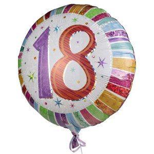 """Globo de helio """"18"""" – celebra por todo lo alto la mayoría de edad"""