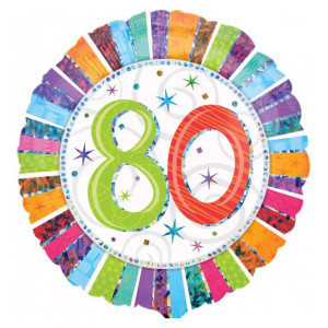 """Globo de helio """"80"""" – ideal para cumplir años de la mejor forma"""
