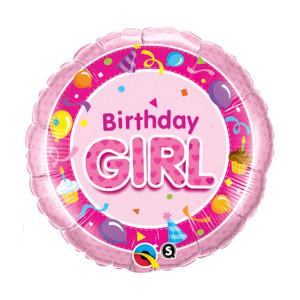 "Globo de helio ""Birthday Girl"""