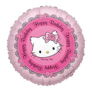 "Globo de helio ""Happy Birthday"" con Kitty"