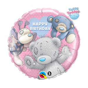 "Globo de helio ""Happy Birthday"" (Osito Tatty)"