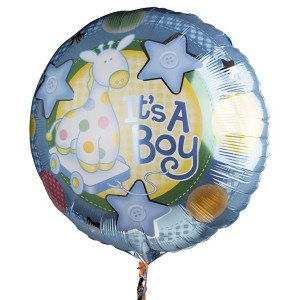 "Globo de helio ""It's a boy"""