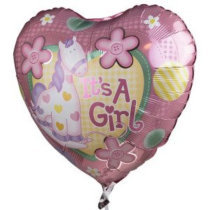 "Globo de helio ""It's a girl"""