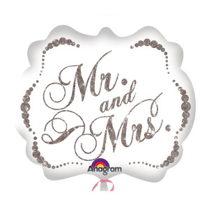 "Globo de helio ""Mr. & Mrs."" (brillante)"