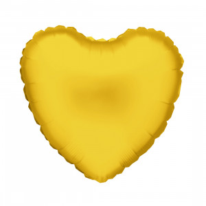 Globo de helio corazón dorado